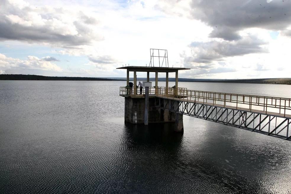 Reservatório de Santa Maria, no Distrito Federal, com capacidade cheia, no fim da temporada de chuvas de 2016 (Foto: Toninho Tavares/GDF/Divulgação)