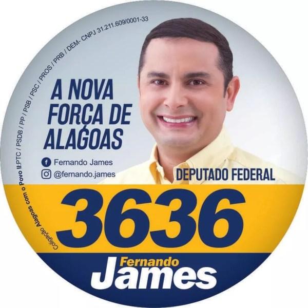 Fernando James, filho de Fernando Collor, não garantiu sua vaga na Câmara dos Deputados. — Foto: Reprodução/Facebook