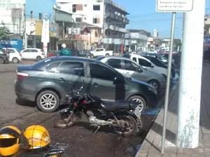vaga, estacionamento, idoso, VC no G1, Macapá, Amapá (Foto: Arnaldo Bianchetti/ VC no G1)