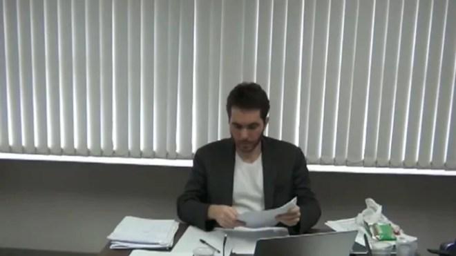 Daniel Gomes relata esquema de pagamento de propinas em delação na Operação Calvário — Foto: Reprodução/TV Cabo Branco