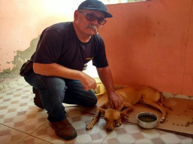 Vicente foi resgatado por policiais após a agressão (Foto: Divulgação / Polícia Civil 21ª COORPIN)