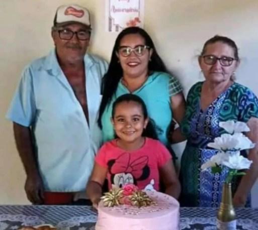 Família assassinada por atirador em Passa e Fica, no interior do RN.  — Foto: Redes sociais