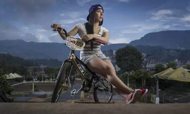 Mariana Pajón tem pista na Colômbia com o nome dela, e muitos títulos internacionais na carreira no BMX
