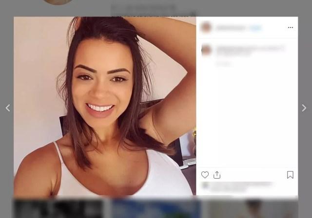 Julia Barbosa de Souza, de 28 anos, era passageira da caminhonete dirigida pelo namorado dela em Sorriso — Foto: Instagram/Reprodução