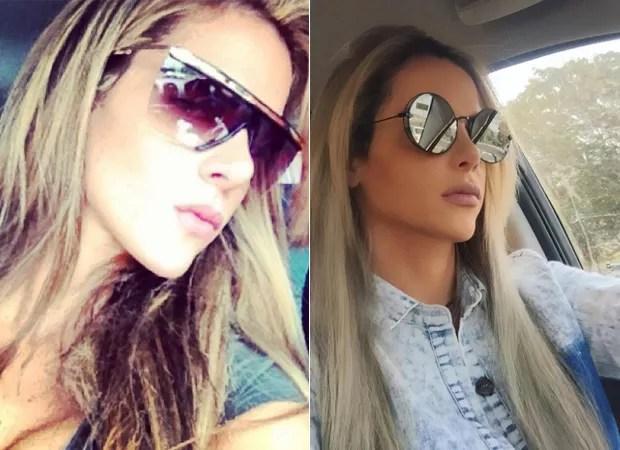 Denise Rocha, antes e depois da rinoplastia (Foto: Instagram / Reprodução)