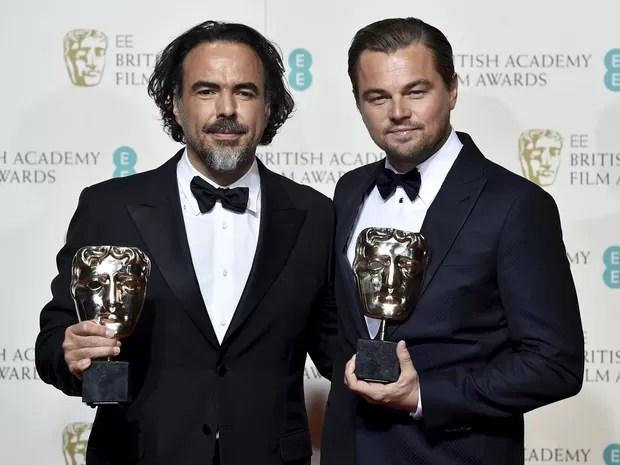 Bafta: Leonardo DiCaprio foi o melhor ator e o diretor Alejandro Gonzáles Iñárritu o melhor diretor, ambos por 'O regresso', que também foi escolhido melhor filme (Foto: REUTERS/Toby Melville)
