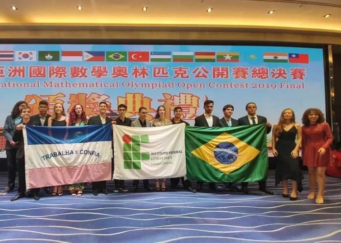 Alunos do Ifes conquistam 44 medalhas em competições de matemática em Taiwan