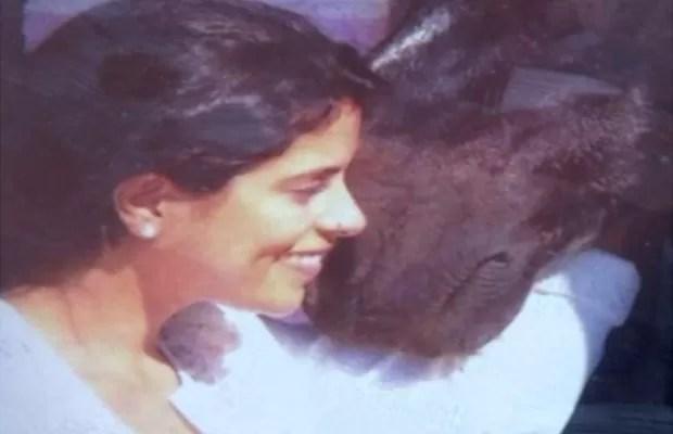 Rayane Kelly Fernandes, de 30 anos, não é vista desde 29 de setembro, em Portugal (Foto: Reprodução/ TV Anhanguera)