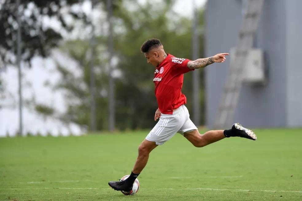 Guerrero celebra o retorno aos gramados e projeta temporada 2021 recuperado de lesão — Foto: Ricardo Duarte/Divulgação Internacional