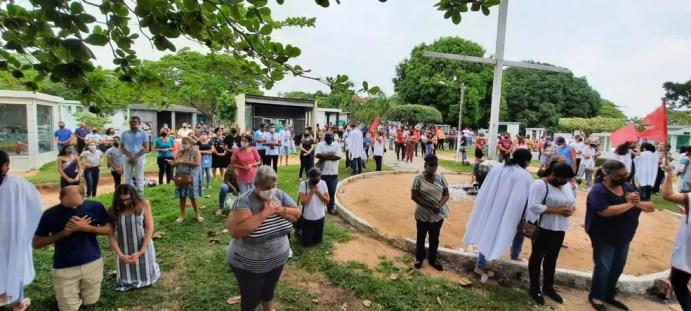 Dia de Finados em Ji-Paraná começa com celebração de missa. — Foto: Gedeon Miranda/Rede Amazônica