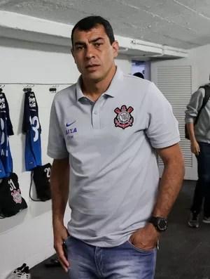 Fábio Carille vestiário Corinthians (Foto: Rodrigo Gazzanel/Ag. Corinthians)