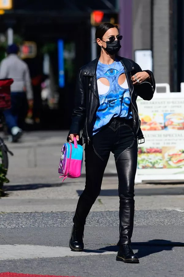 NEW YORK, NY - OCTOBER 14: Model Irina Shayk is seen walking in SoHo on October 14, 2020 in New York City.  (Photo by Raymond Hall/GC Images) (Photo: GC Images)