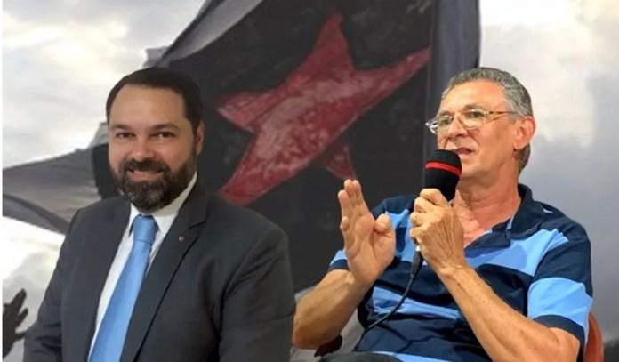 Alexandre Cavalcanti (à esquerda) e Orlando Soares devem disputar a eleição em outubro; oposição e situação vêm trocando acusações há algum tempo — Foto: Arte / ge