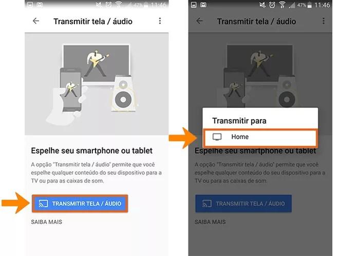 Faça a transmissão da tela do celular usando o Chromecast (Foto: Reprodução/Barbara Mannara)