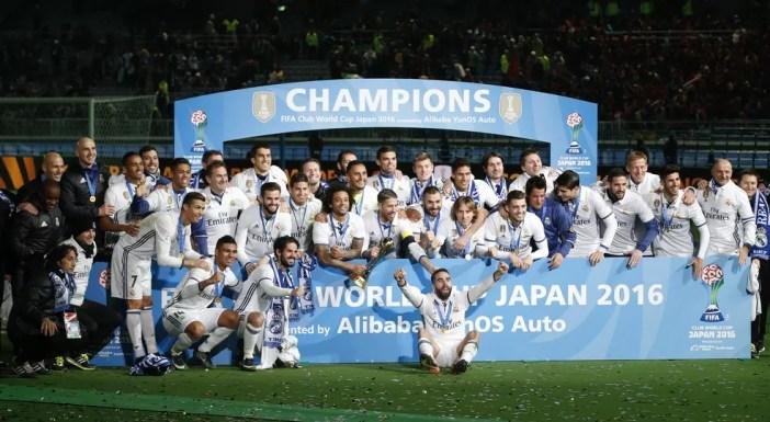 O Real Madrid é o atual campeão do Mundial de Clubes da Fifa, que em 2016 foi realizado no Japão (Foto: Reuters)