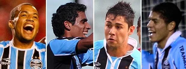 montagem jogadores grêmio (Foto: Editoria de arte / Globoesporte.com)