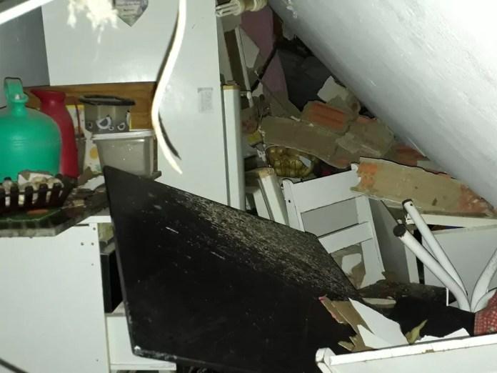 Explosão de gás de cozinha destrói casa em Campinas, em 13 de junho (Foto: Defesa Civil/Divulgação)