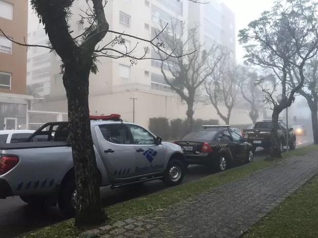 PF realiza ação relacionada a desdobramento da 18ª fase da Lava Jato (Foto: Sergio Tavares/ G1)