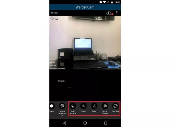 Recursos adicionais do WardenCam podem ser ativados remotamente — Foto: Reprodução/Rodrigo Fernandes
