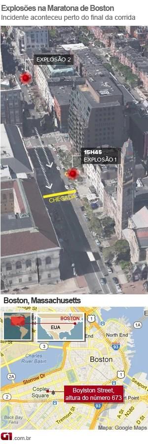 arte - mapa explosão boston - v3 (Foto: Arte/G1)