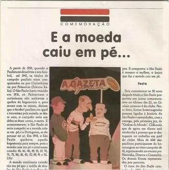 Recorte jornal São Paulo Gazeta Esportiva (Foto: Twitter do jogador Auro)