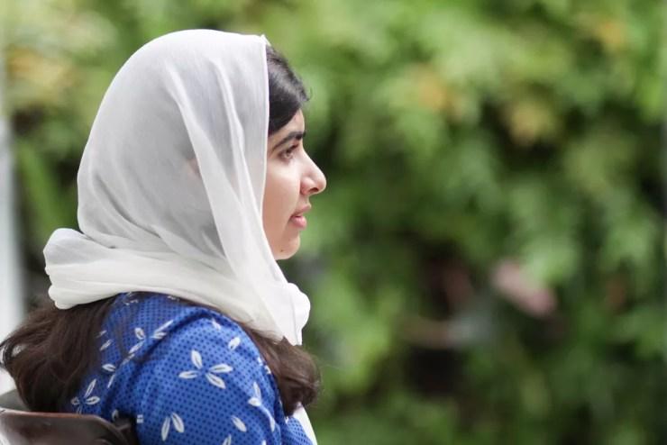 Malala Yousafza durante visita a Salvador, em imagem de arquivo — Foto: Egi Santana/G1