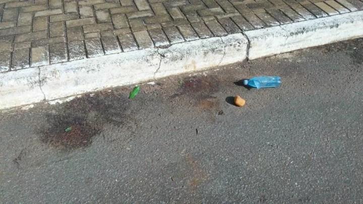 Local onde a cabeça foi encontrada em Goiânia, Goiás — Foto: Josemar Vieira/TV Anhanguera