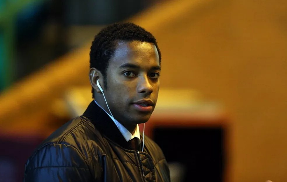 Robinho foi condenado por estupro na Itália — Foto: MacNicol/AFP/Getty Images