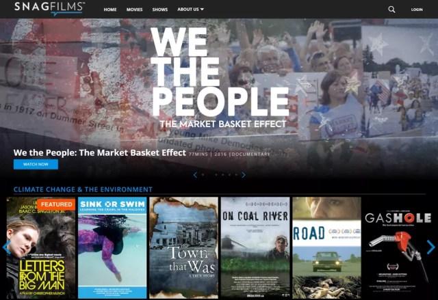"""Snagfilmes é a """"Netflix de documentários"""" — Foto: Reprodução/TechTudo"""