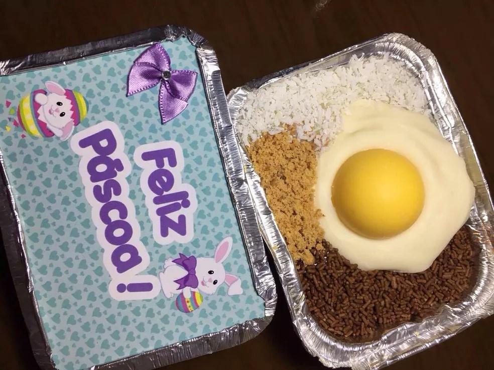 Marmita de chocolate pode ser personalizada  (Foto: Arquivo pessoal )