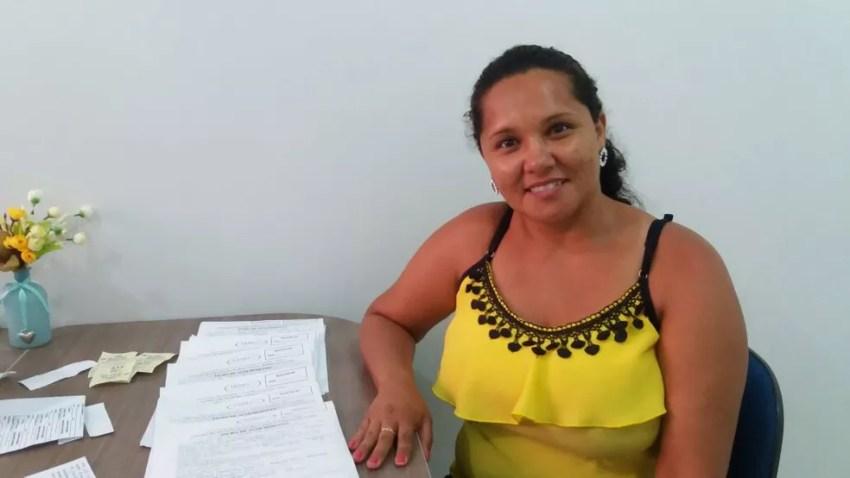 Karlene da Silva Pereira esteve no Ijoma nesta quinta-feira (8) (Foto: Carlos Alberto Jr/G1)