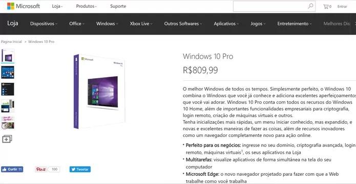 Windows 10 custará caro após o fim do update gratuito no dia 29 de julho (Foto: Reprodução/Microsoft)