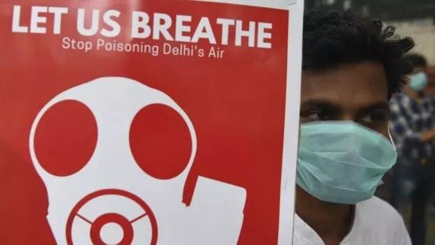 BBC: Qualidade do ar em Nova Déli se deteriorou muito nos últimos anos (Foto: AFP (Via BBC))