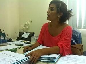 Delegada titular da DEPCA, Linda Glaucia Moraes (Foto: Ana Graziela Maia/G1)