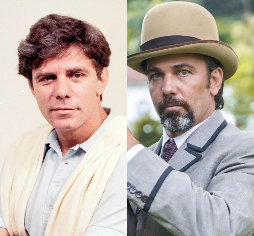Reginaldo Faria e Marcelo Faria aos 46 anos. Muito iguais! — Foto: TV Globo