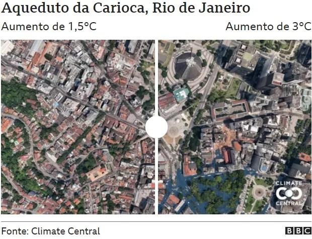 Carioca Aqueduct (Photo: CLIMATE CENTRAL via BBC)