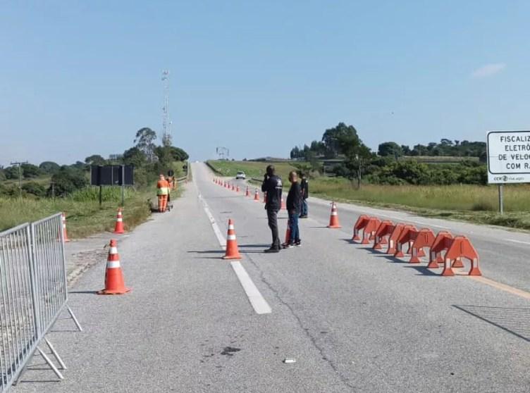 Araruama tem barreira sanitária no acesso à Via Lagos — Foto: Divulgação/Prefeitura de Araruama