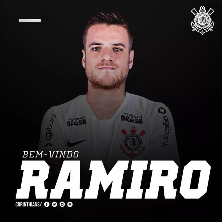 Ramiro é uma das caras novas do Corinthians em reapresentação nesta quinta — Foto: infoesporte