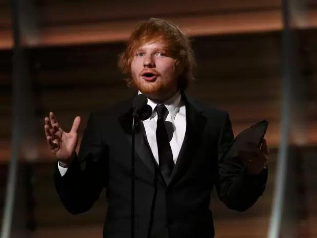 Ed Sheeran ganhou prêmio de melhor canção do ano no Grammy, com 'Thinking out loud' (Foto: Mario Anzuoni/Reuters)