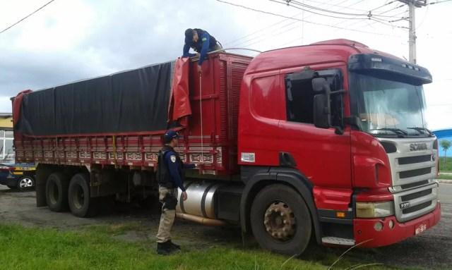 A Polícia Rodoviária Federal (PRF) havia apreendido outro carregamento ilegal na mesma região nessa sexta-feira (9).  (Foto: Divulgação/Polícia Rodoviária Federal)