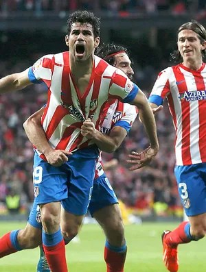 Diego Costa gol Atlético de Madri Real Madrid final Copa do Rei (Foto: Reuters)