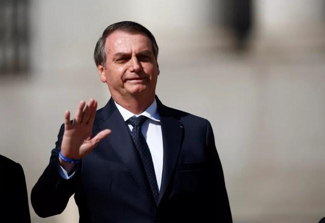 Jair Bolsonaro sancionou a Lei do Mandante com apenas um veto — Foto: REUTERS/Esteban Garay