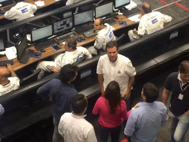 Prefeito Eduardo Paes garantiu que procedimento contra chuvas fortes se tornará padrão na cidade. (Foto: Henrique Coelho / G1)