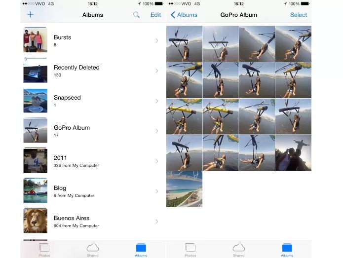 Fotos aparecem no telefone do usuário (Foto: Reprodução/Aline Jesus)