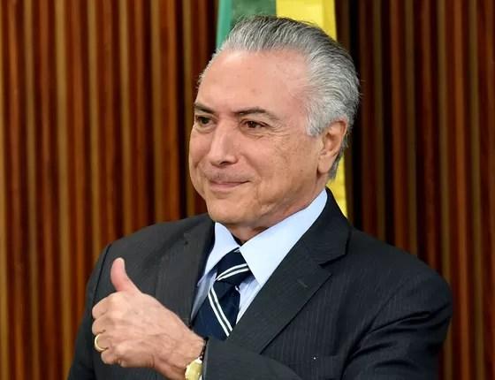 Presidente interino Michel Temer (Foto: EVARISTO SA/AFP)
