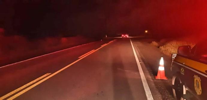 Idoso foi atropelado na BR-232, em Belo Jardim — Foto: PRF/Divulgação