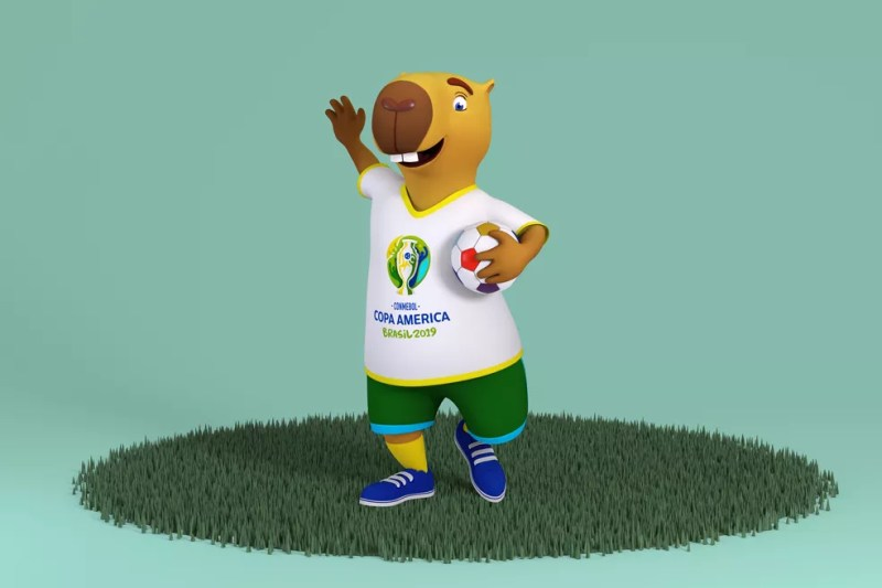 Capivara será mascote da Copa América 2019 — Foto: Divulgação