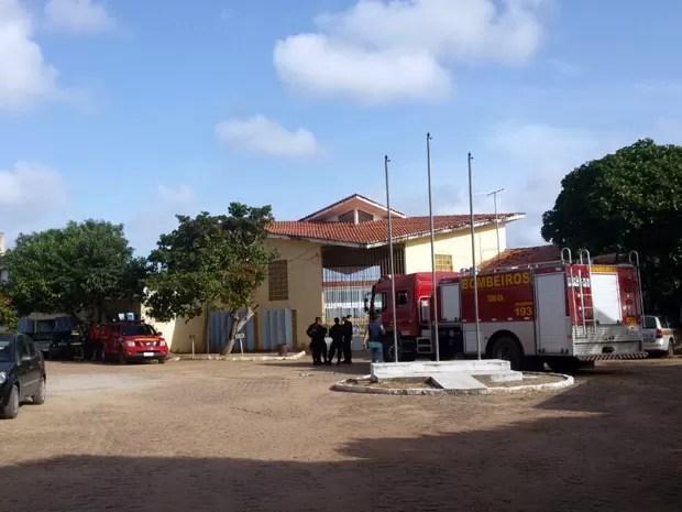 Alcaçuz enfrenta rebeliões de presos há mais de uma semana (Foto: Heloisa Guimarães/Inter TV Cabugi)