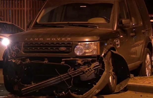 Motorista da caminhonete estava com CNH vencida (Foto: Reprodução/RBS TV)