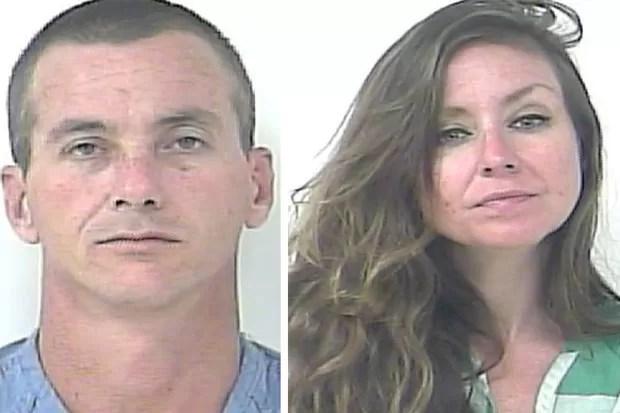 Sean Dempsey e Shanna Kelley disseram que queriam apenas 'se divertir' e mantiveram o ato sexual público por mais de 20 minutos em parque (Foto: Divulgação/Fort Piece Police Department)